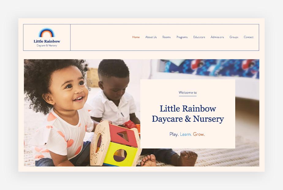 Opieka nad dziećmi – strona internetowa