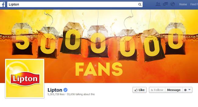 Couverture Facebook de Lipton