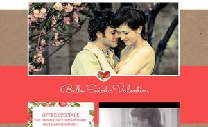 Template rouge pour la St Valentin