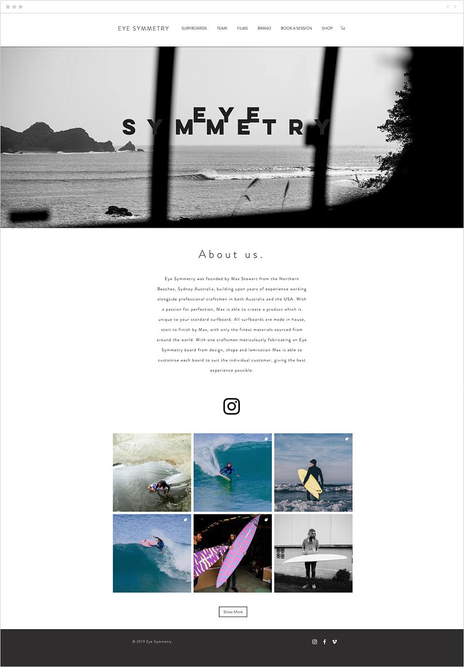 Ejemplo de dossier de prensa de empresa de tablas de surf