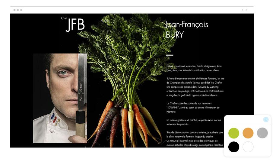 Página web wix del chef Jean François Bury