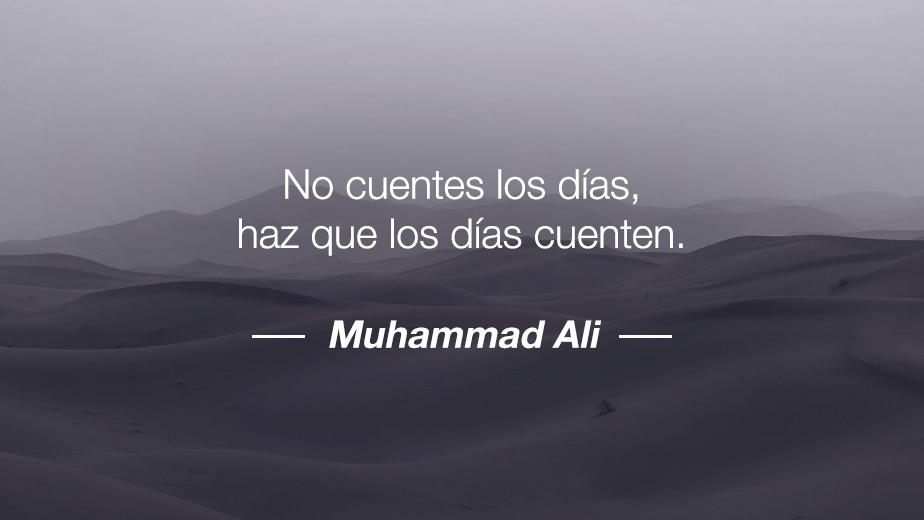 Frase de Mohamed Ali
