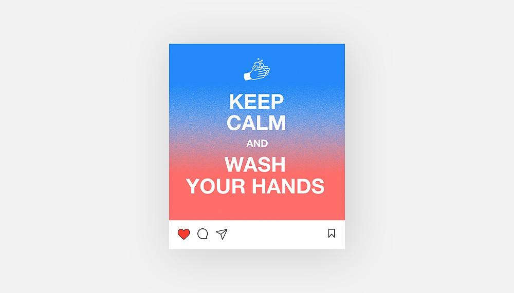 """Keep Calm"" Instagram template"