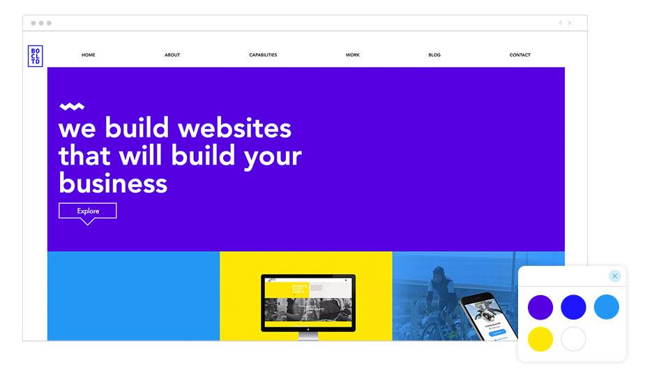 Web Wix de agencia de diseño