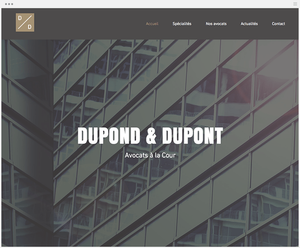 Template Wix Cabinet d'Avocats