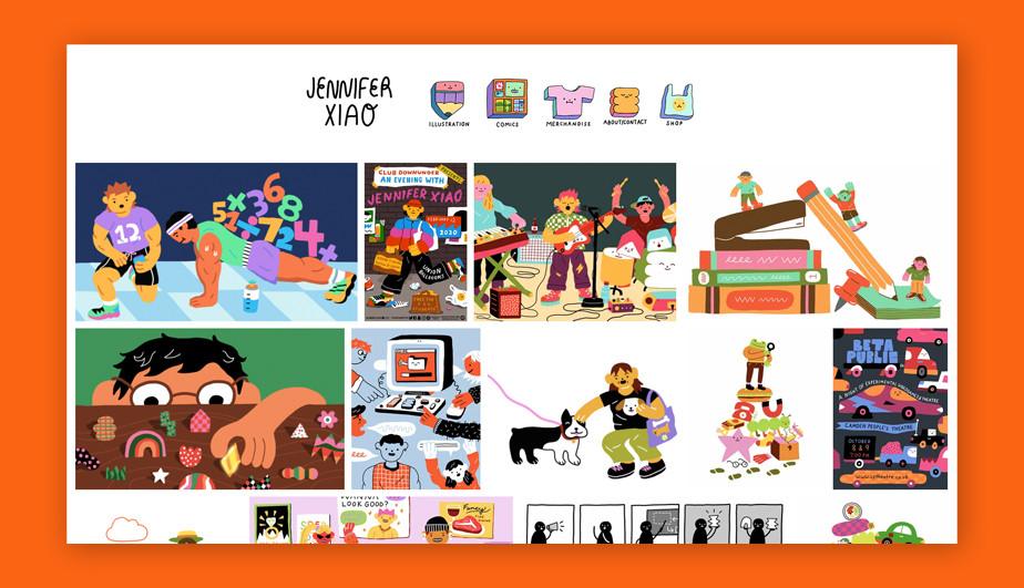 Best website design by Jennifer Xiao