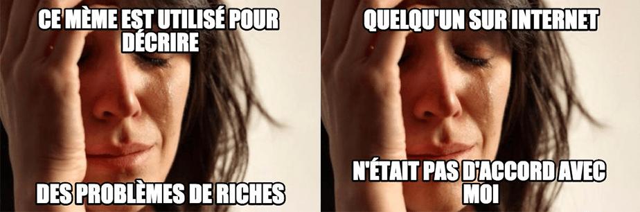 Les problèmes de riches
