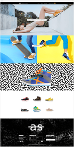 Nouveau template Wix boutique de baskets