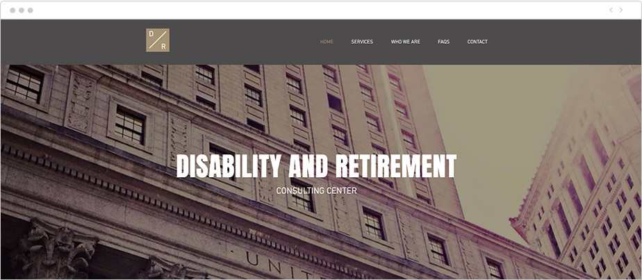 Best law firm websites Disability and Retirement