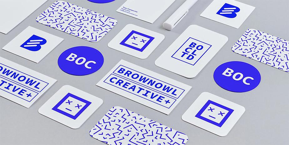 Tasarım stüdyosu ve Wix kullanıcısı Brown Owl Creative'in kartvizit tasarımı