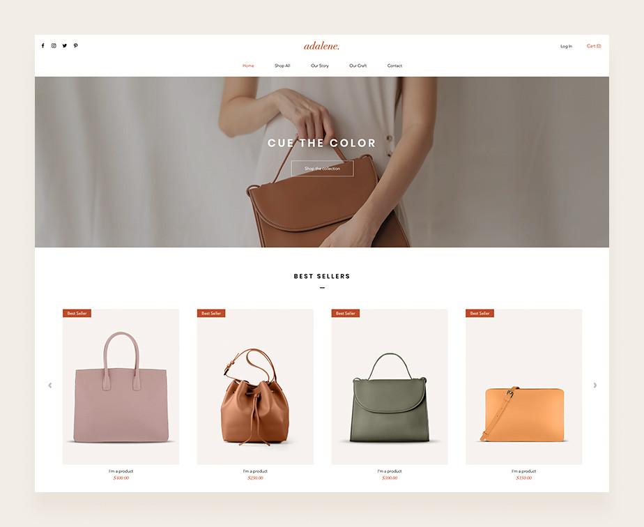가방을 판매하는 온라인 쇼핑몰에 전시된 아름다운 가방의 이미지들