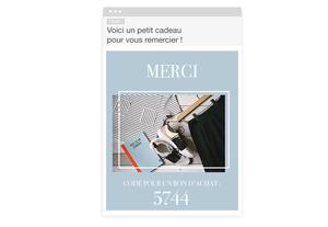 Newsletter - cadeau de remerciement