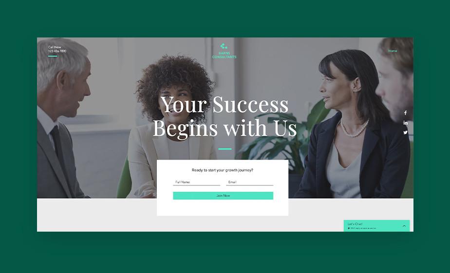 Modello gratuito landing page