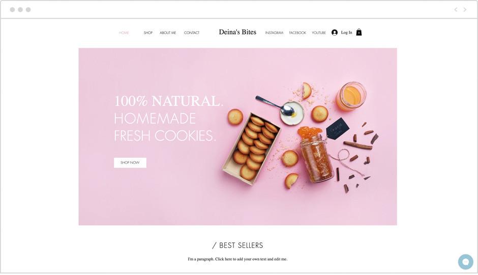 Vorlage einer Restaurant-Website als Beispiel für Website-Ideen