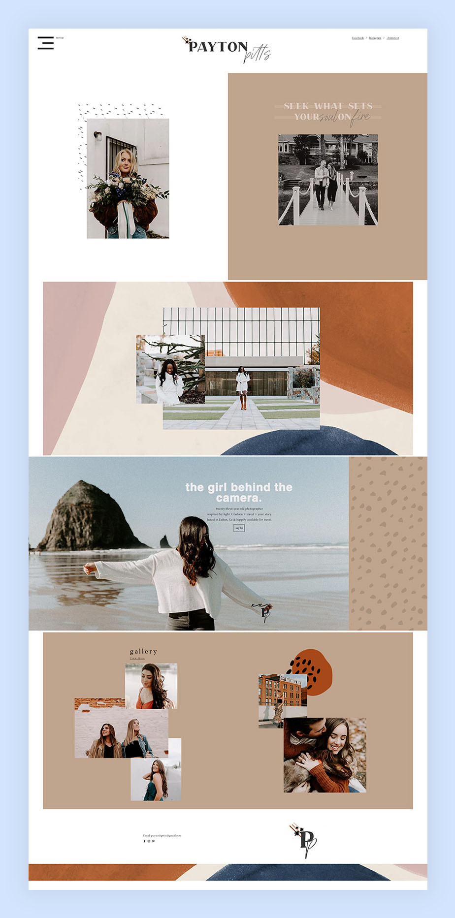 Payton Pitts fotografie website voorbeeld