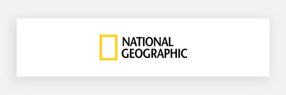 Примеры известных логотипов: National Geographic
