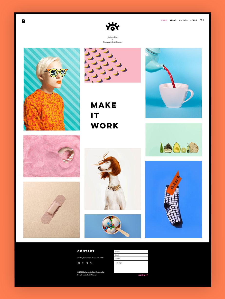 exemplo de site profissional para freelancers