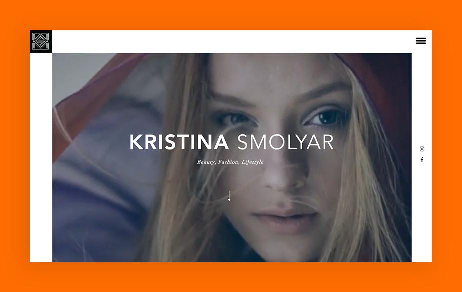 De beste portfolio website: Kristina Smolyar