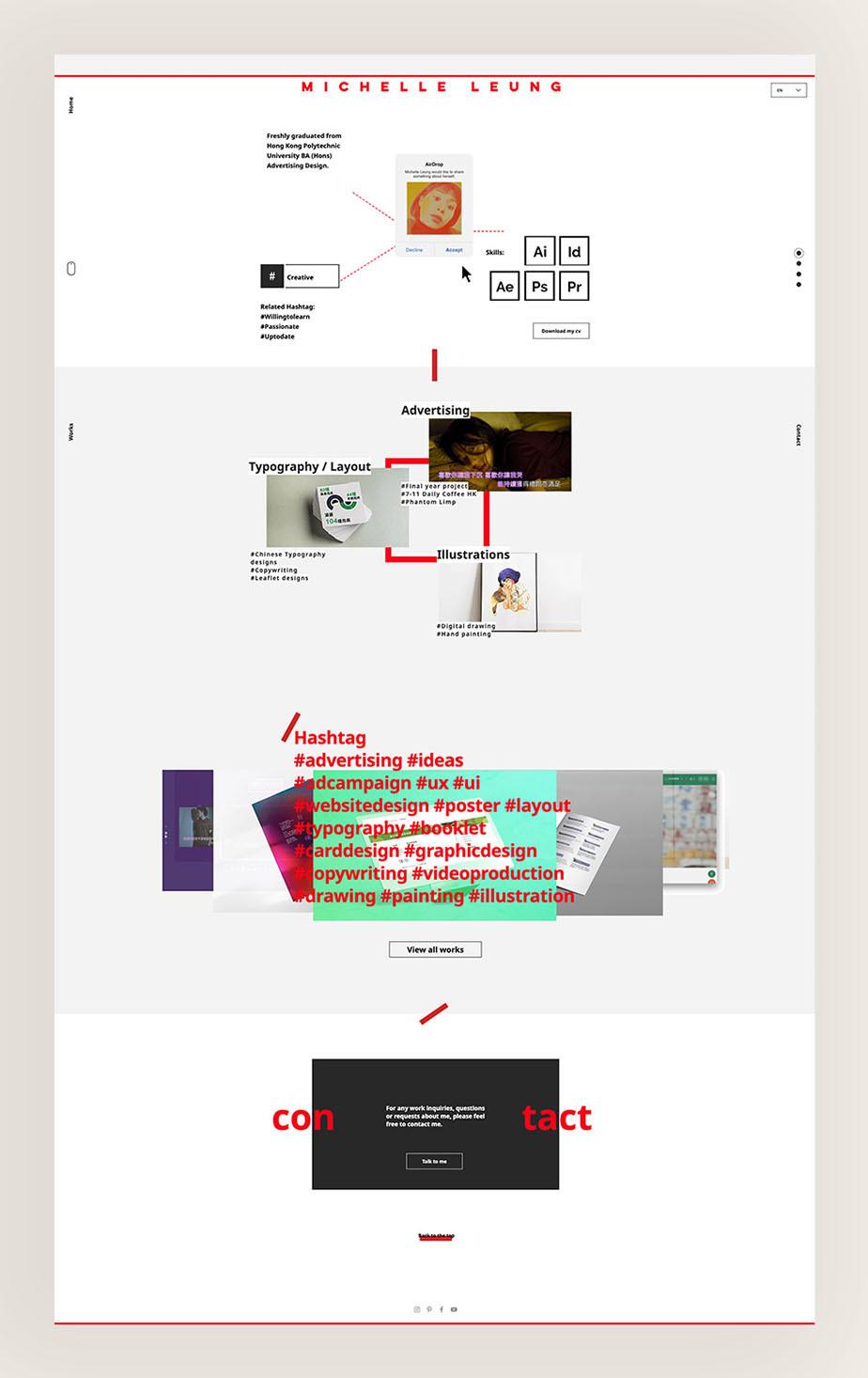Michelle Leung Multilingual advertising design portfolio