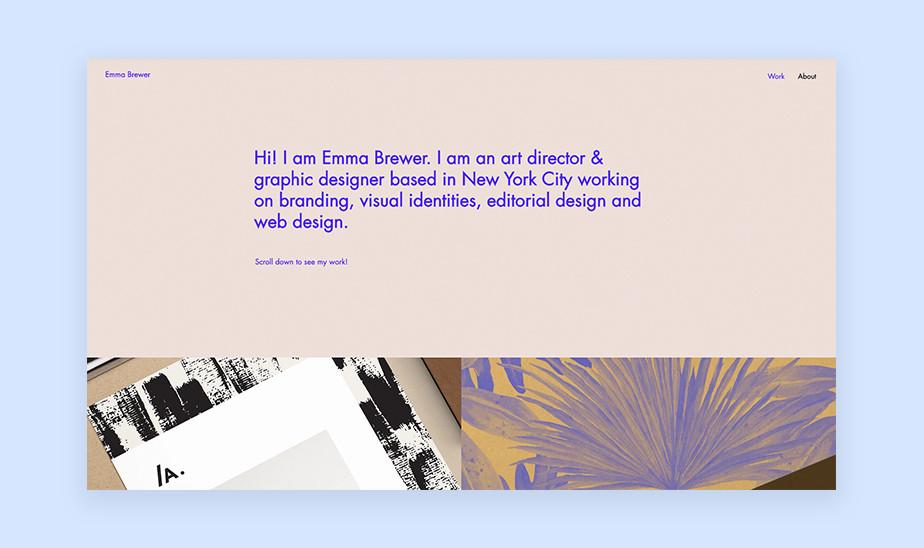 Шаблоны сайта портфолио для творческих профессий: сайт портфолио для арт-директора