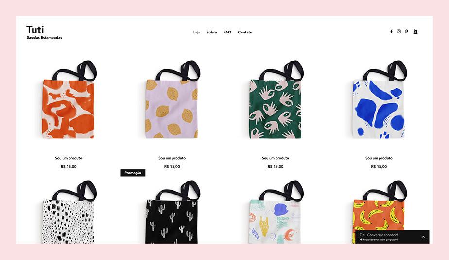Template para lojas virtuais de acessórios de moda