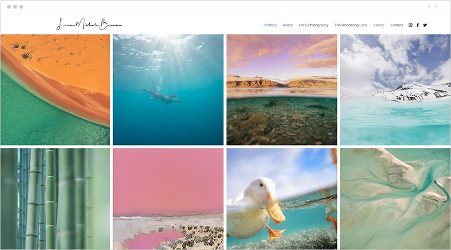Portfolio fotograficzne podróże przykład
