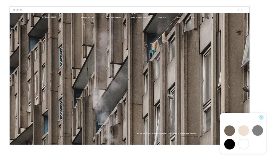 Página web de fotografía Wix de Béton Brut