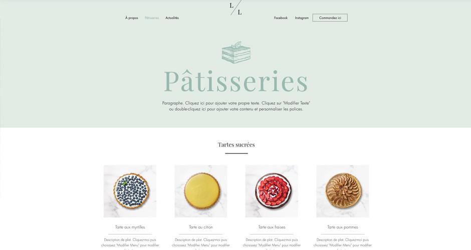 template de site de pâtisserie