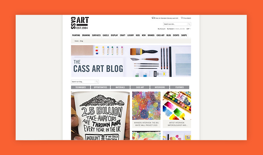 Best art blogs - Cass Art