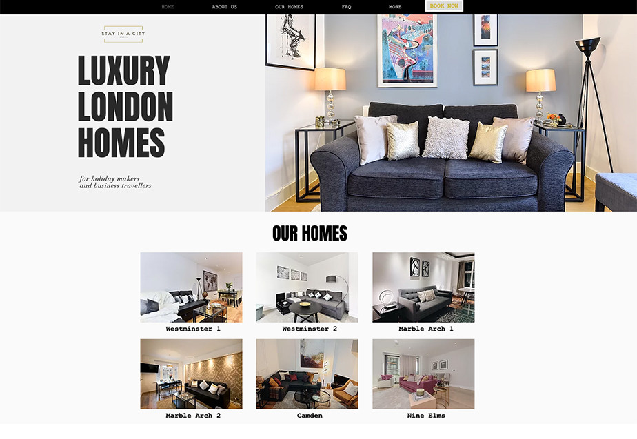 Hotel website design Stay in a City London