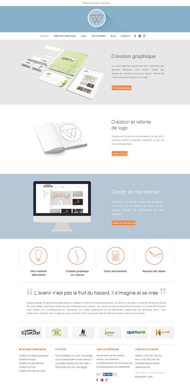 Capture d'écran du site design graphique