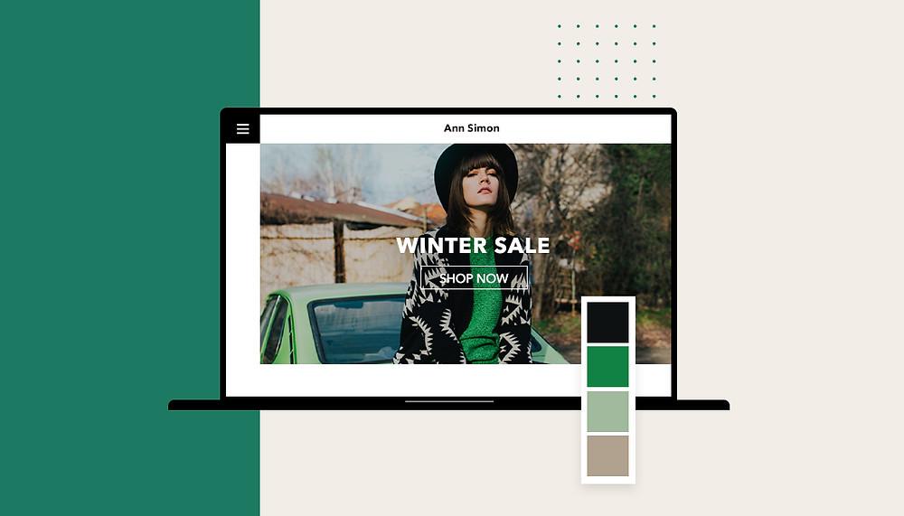 exemple de site internet avec un web design épuré