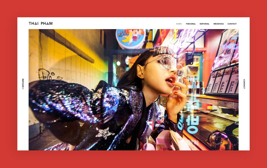 De beste portfolio website: Thai Pham