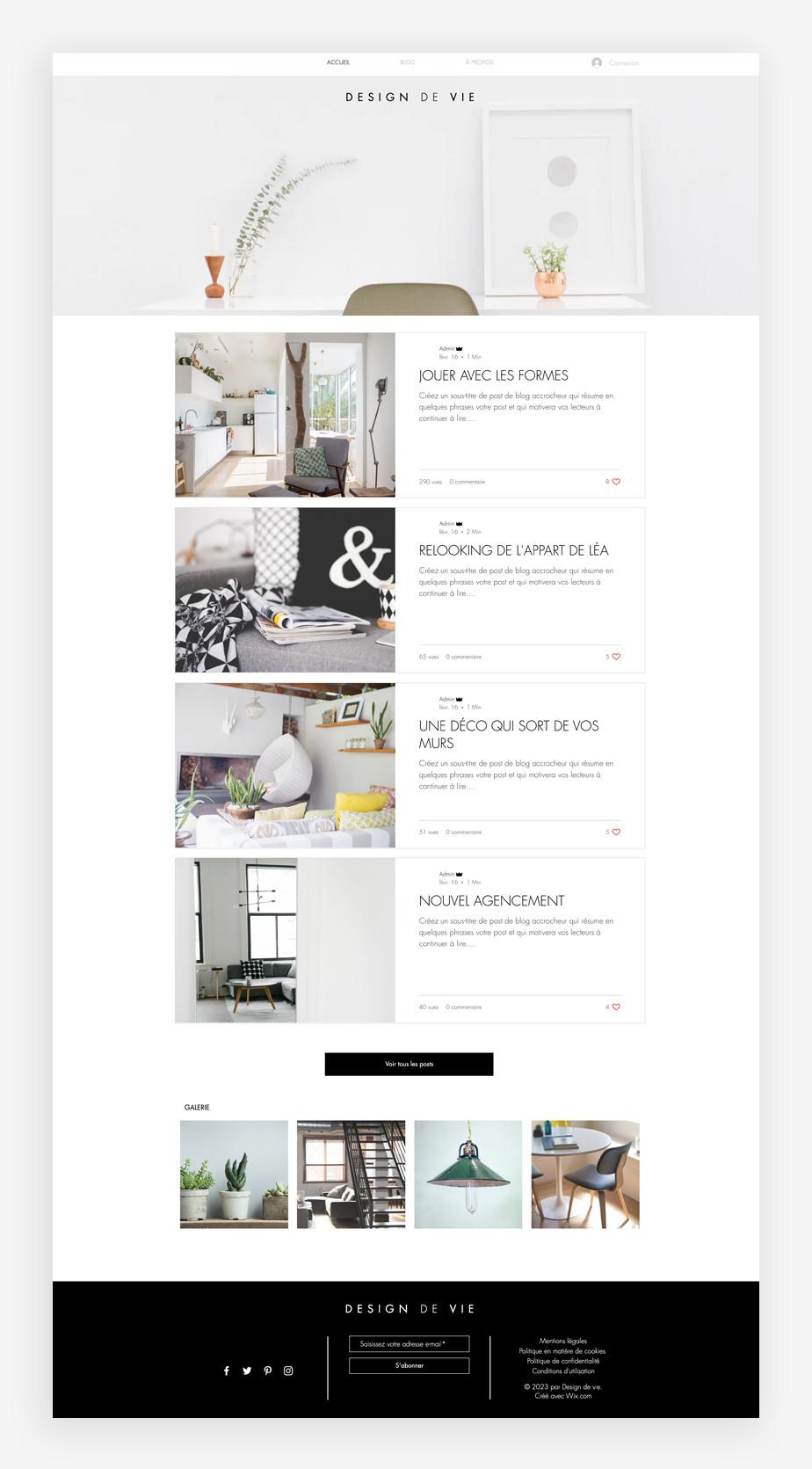template de blog de décoration