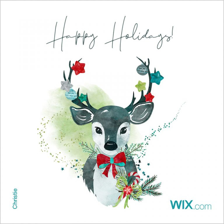 Online holiday greeting cards from Wix community