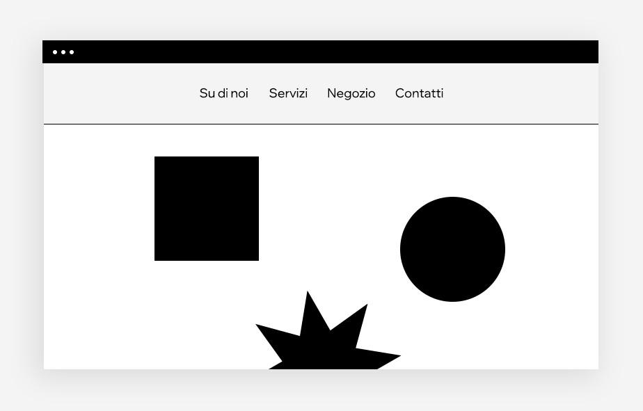 web design menu adesivo
