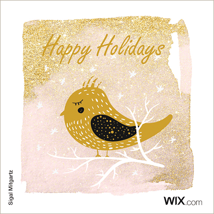Free holiday greeting card from Wix user Sigal Mitgartz