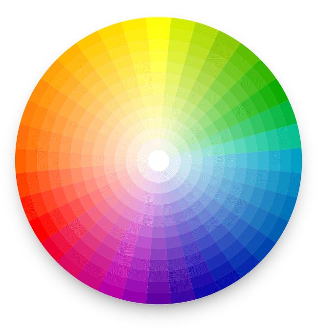 Théorie des couleurs cercle chromatique