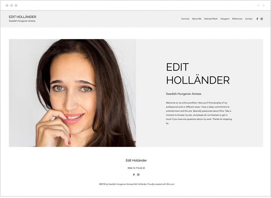 Actor website by Edit Hollander