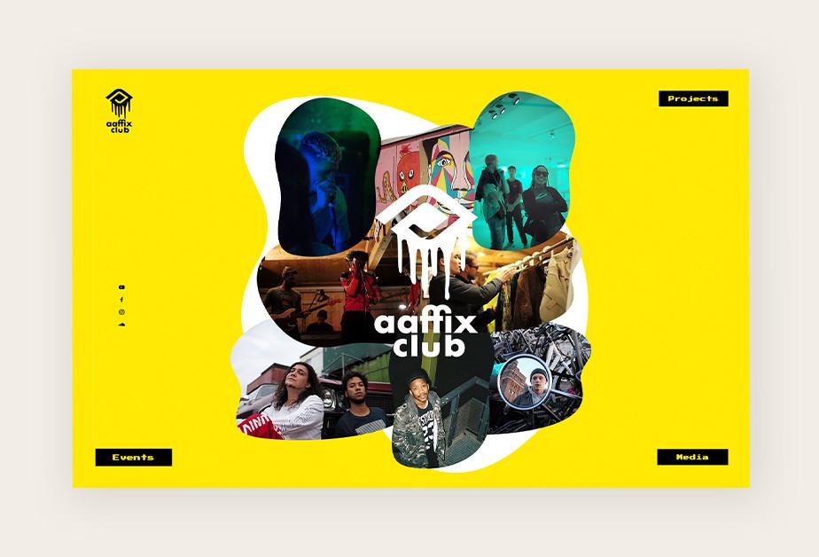 Screenshoot einer Website mit abstrakten Designs