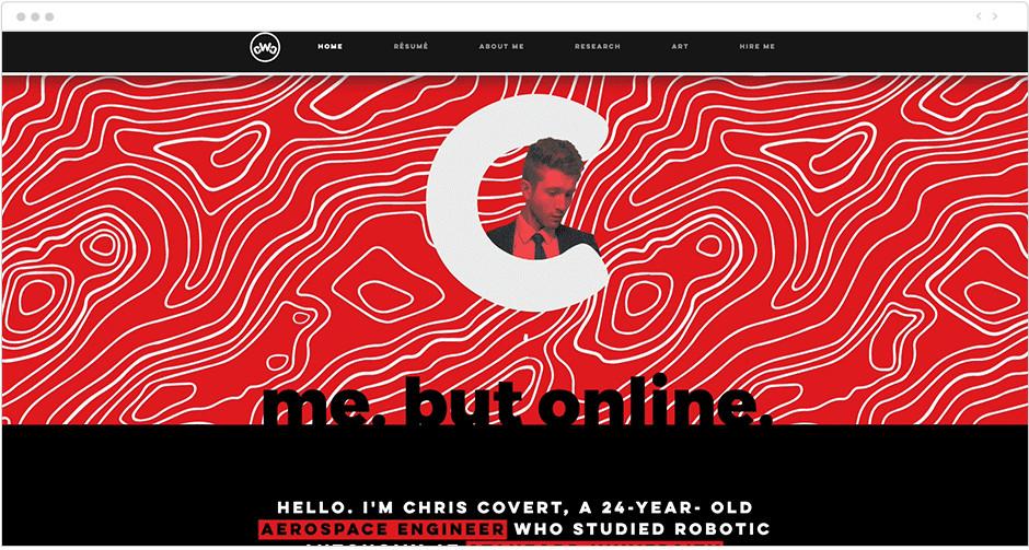 Параллакс эффект на современном черно-красном сайте
