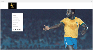 Le site officiel de Pelé par Wix