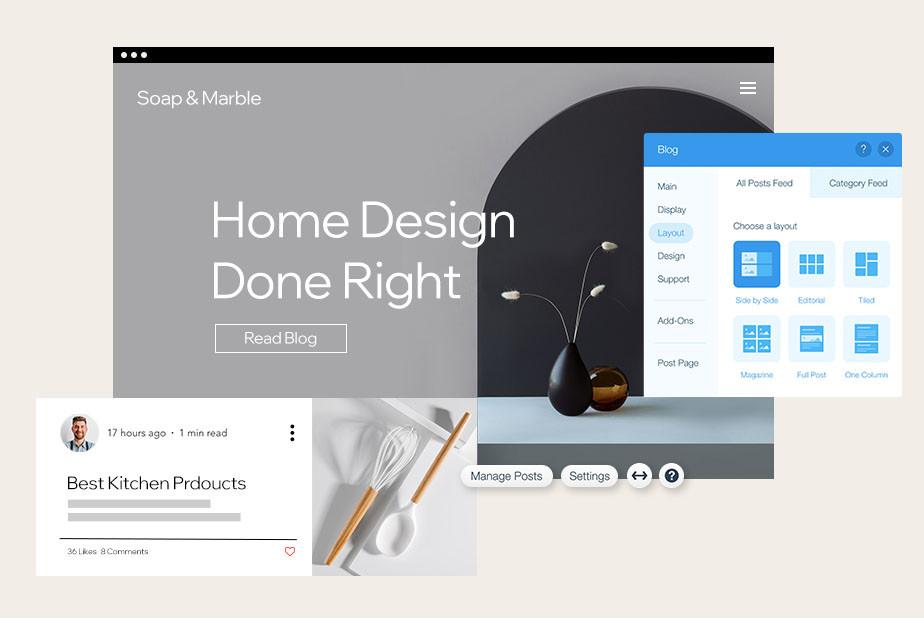 Come creare un blog di successo: esempio di blog di design d'interni