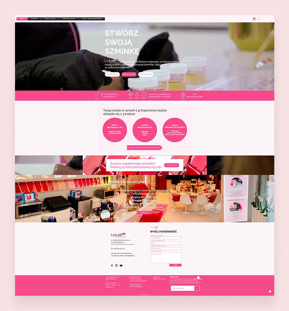 Przykład strony Wix Bookings: Liplab