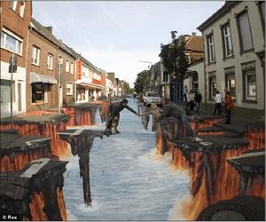 стрит-арт землетрясение