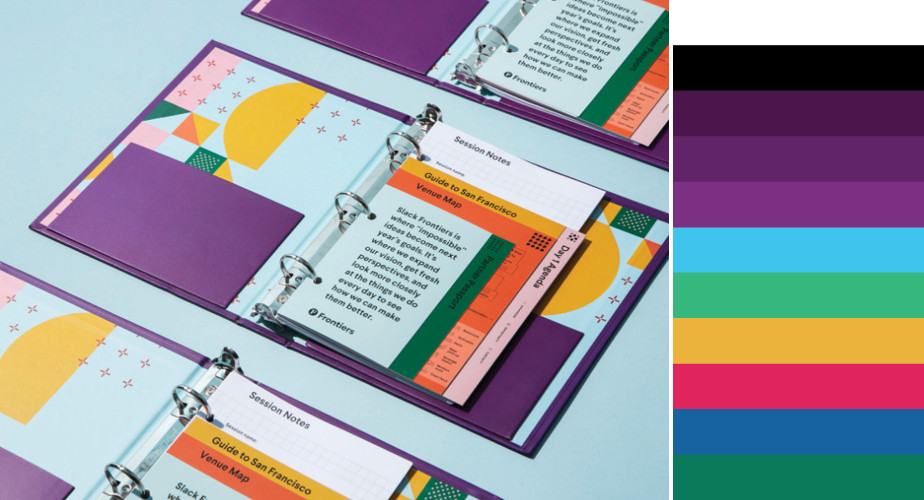 Paleta de cores do Slack