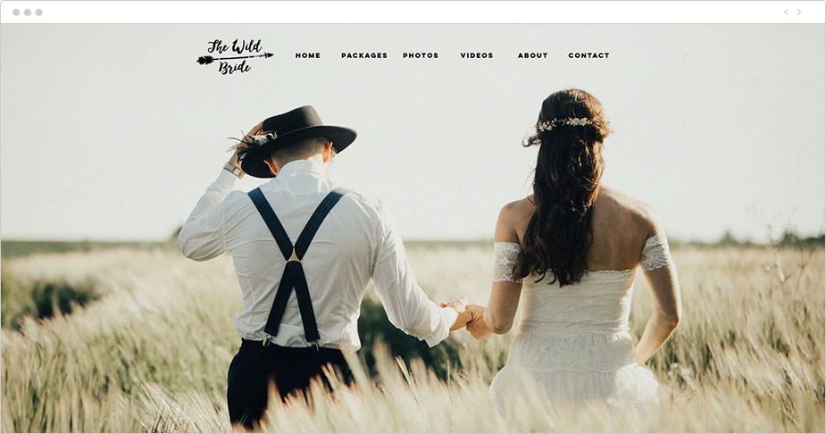 Foto de pareja de novios de la web de The Wild Bride
