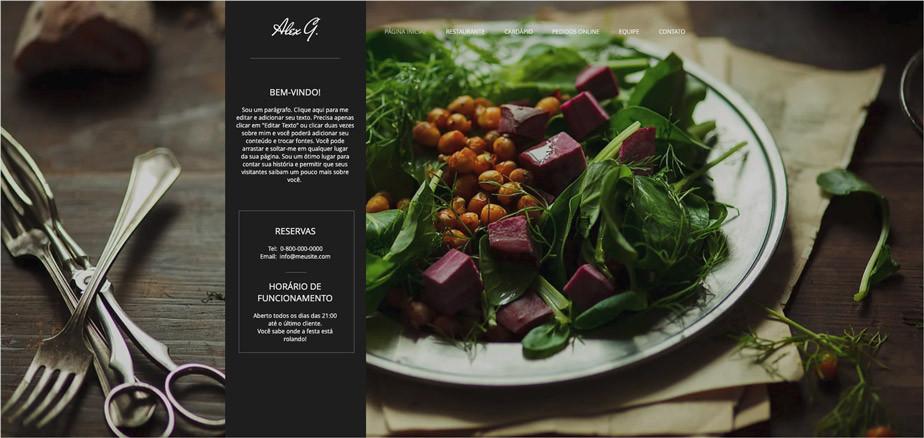 Template de Site para Restaurante