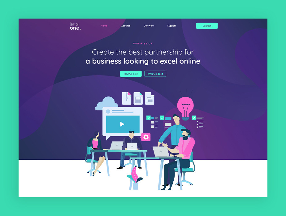 De beste portfolio website: Lets One