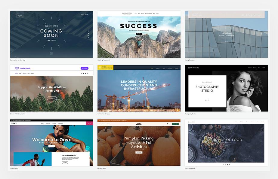 Diferentes paginas web profesionales